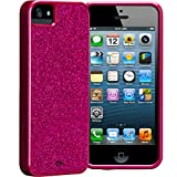 Girly Hot pink sparkles and glitter bling iphone case