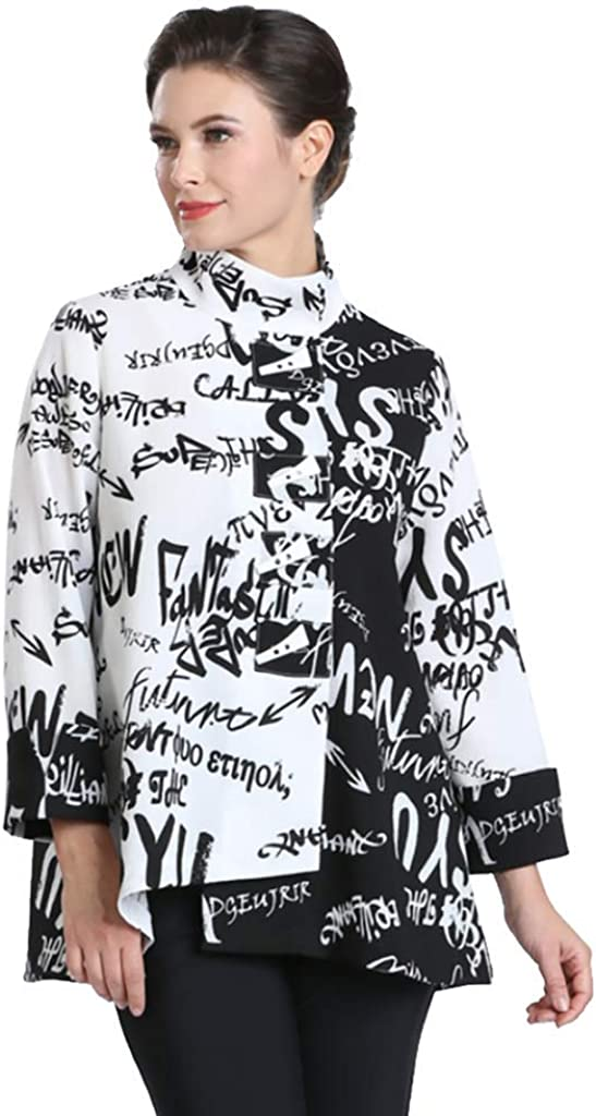 IC Collection Recommended Two-Tone Power of Jacket Words New arrival - Asymmetric 2359J