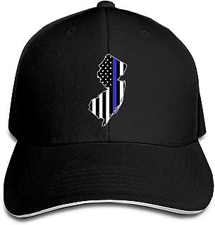 Thin Blue Line NJ State Police Adjustable Sandwich Cap Baseball Cap Casquette Hat