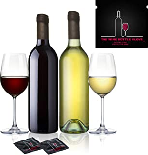 Sexy Wine Stoppers | The Wine Bottle Glove | Air & Water-Tight Seal For Wine Bottles | Fully Reusable, FDA-Approved Latex | Funny Wine Novelty | 7 Convenient Packets | Gift Box Included