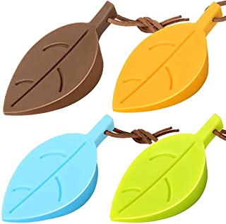 DELFINO Door Stopper Wedge Finger Protector, Silicone Door Stops, Cute Colorful Cartoon Leaf Style Secure Flexible Decorat...