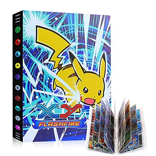Sinwind Pokemon Sammelalbum Groß, 24 seitig Kann bis zu 432 Pockets Pokemon Karten Album Halter, Pokemon Ordner Buch GX EX Karten Sammelkartenalben, Sammelmappe Kartenalbum (Blitzlichtwelle)