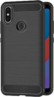 2e1e0d4387d AICEK Funda Xiaomi Mi A2, Negro Silicona Fundas para Xiaomi Mi A2 Carcasa  Xiaomi Mi
