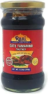 Rani Dates & Tamarind (Imli) Chutney Glass Jar, Ready to eat 10.5oz (300g) Vegan ~ Gluten Free   NON-GMO   No Colors   Indian Origin
