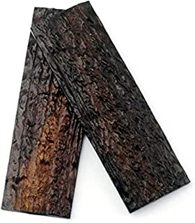 Aibote 2PCS POM Resin Imitation Sambar Stag Antler Horn Knife Handles Material Slabs Scales Handle Parts Grips for Knife Making Blanks Blades(130x42x7.5mm)