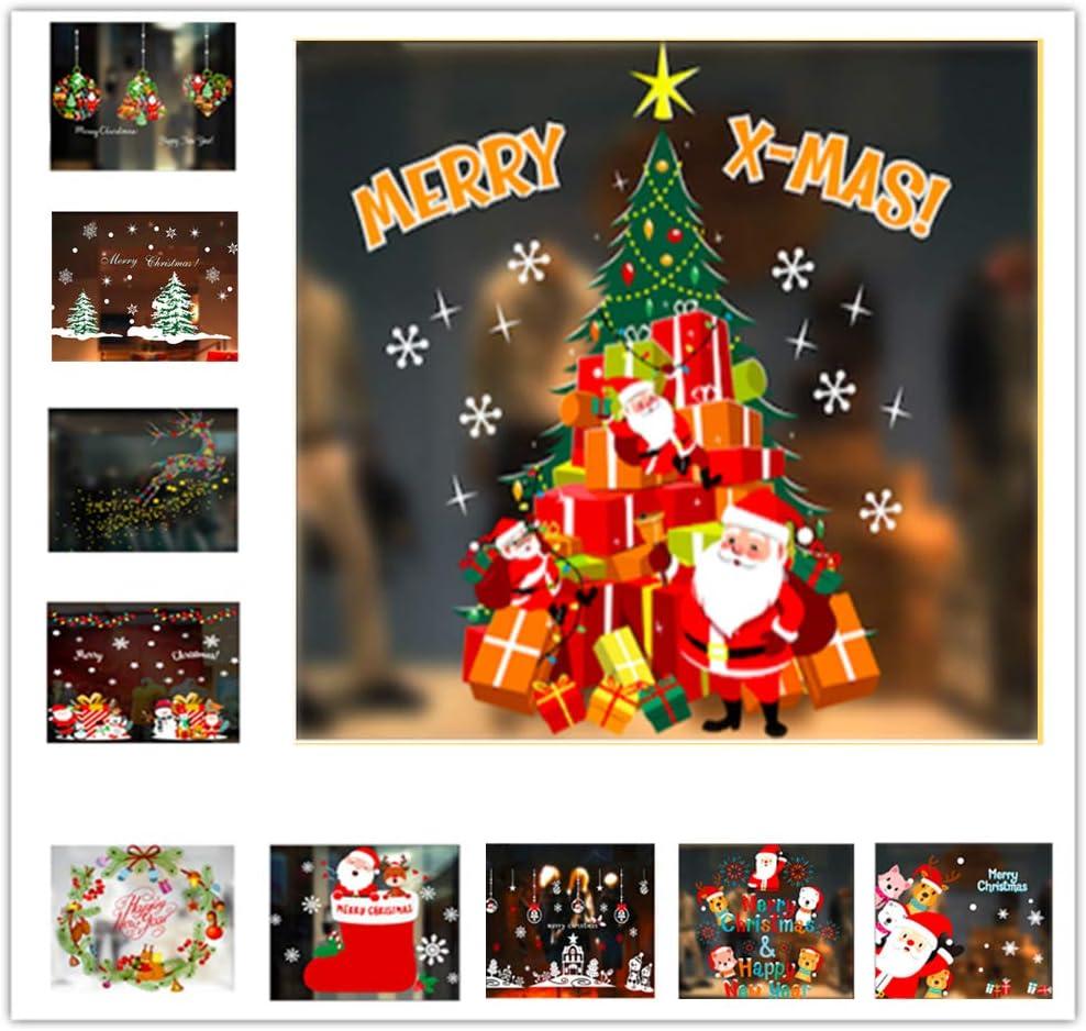 Anyingkai Weihnachten Fensterbild,Weihnachten Fensterbilder Weihnachtsdeko,Weihnachts Fenster Aufkleber,Weihnachten Fensterbilder Kinder,Fensterbild Weihnachten,Deko Weihnachten Farbe1 54cm*72cm