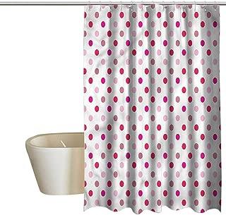 Denruny Teal Shower Curtains for Bathroom Polka Dots,Regular Array of Dots,W72 x L96,Shower Curtain for Girls Bathroom