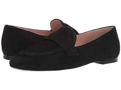 Stuart Weitzman Payson Flat Loafer (Black Suede) Women