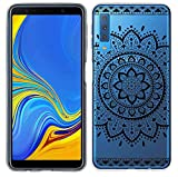 yayago Hülle für Samsung Galaxy A7 2018 Silikon Schutzhülle Hülle Hülle Backcover Tattoo Ornament Tribal Design transparent Tasche