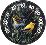 AcuRite 01711 12.5-Inch Wall Thermometer, Goldfinches,Multicolor