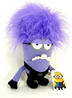 Evil Minions Plush Toy Despicable Me Purple Minion Kevin Monster Two-Eyed 10