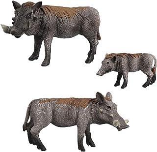 リアル 野生動物像 子豚 野豚 イノシシ模型 動物フィギュア おもちゃ 3個入