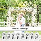 CGBOOM Gastgeschenke Taufe, 50 Stück Gastgeschenke Hochzeit für Gäste, 25 Stück Souvenir Gastgeschenke Hochzeit Schutzengel und 25 Stück Vintage silberner Schlüsselflaschenöffner. - 7