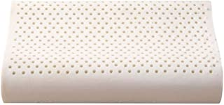 KEDUODUO Almohada de látex, Marco de Hielo de algodón Almohada de látex Ola de látex Almohada de látex Masaje de partículas Almohada Capa Columna Cervical Almohada,Particle Orange