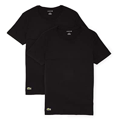 Lacoste 2-Pack Crew Neck Casual T-Shirt (Black) Men