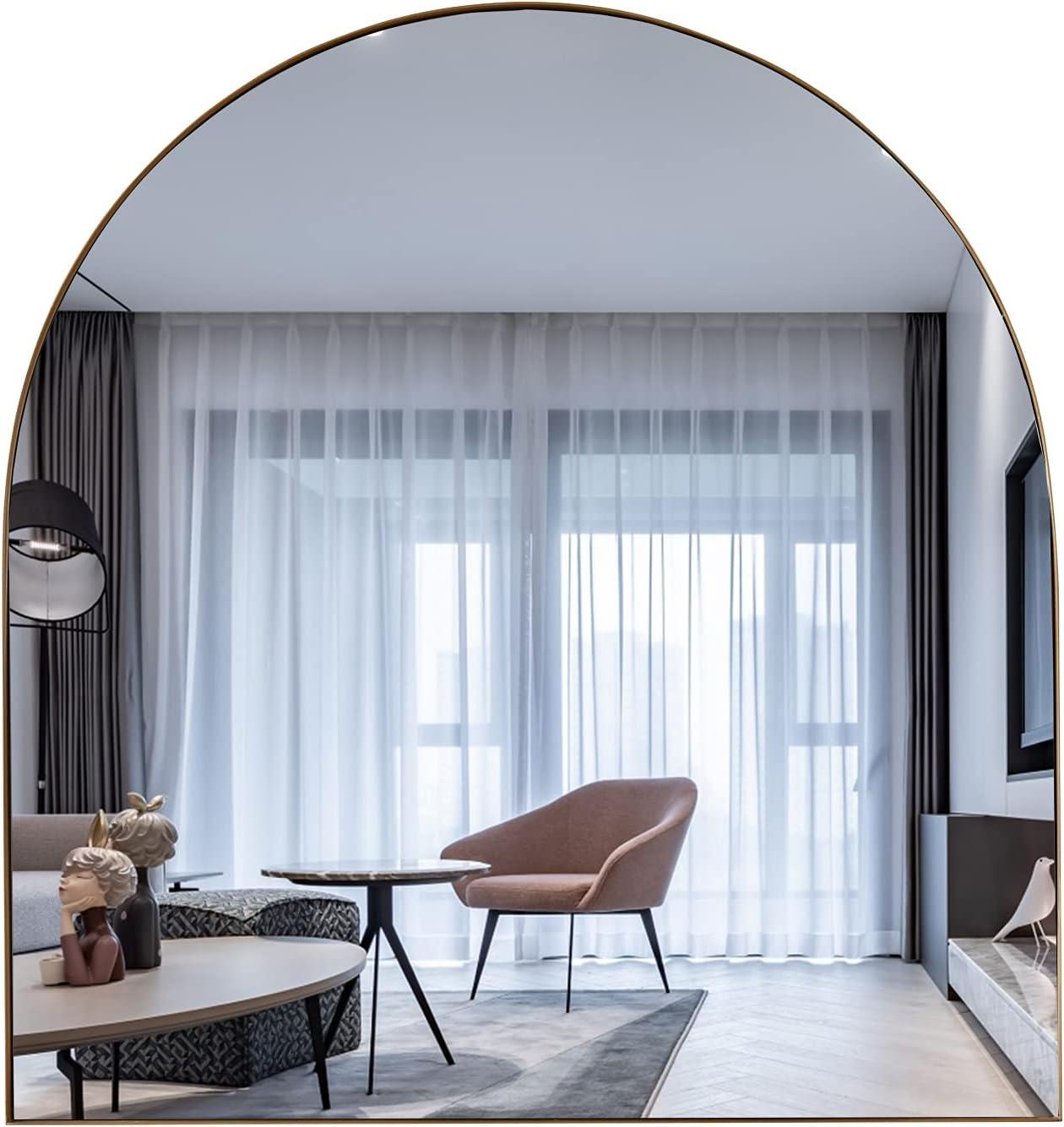 BIKARSOUL Arched Mirror for Wall Decor 31.5