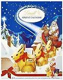 Lindt Milk Chocolate Advent Calendar, 24 Assorted Milk Chocolate Surprises, Gold Reindeer, Milk Santa, Napolitans, Lindor, Snowdrops, 160 g