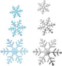 IMIKEYA 6 Sacos de Natal Floco de Neve Confetti- Azul Prata Prata Confetti Neve Festa Embalagem Ornamentos- para Aniversár...