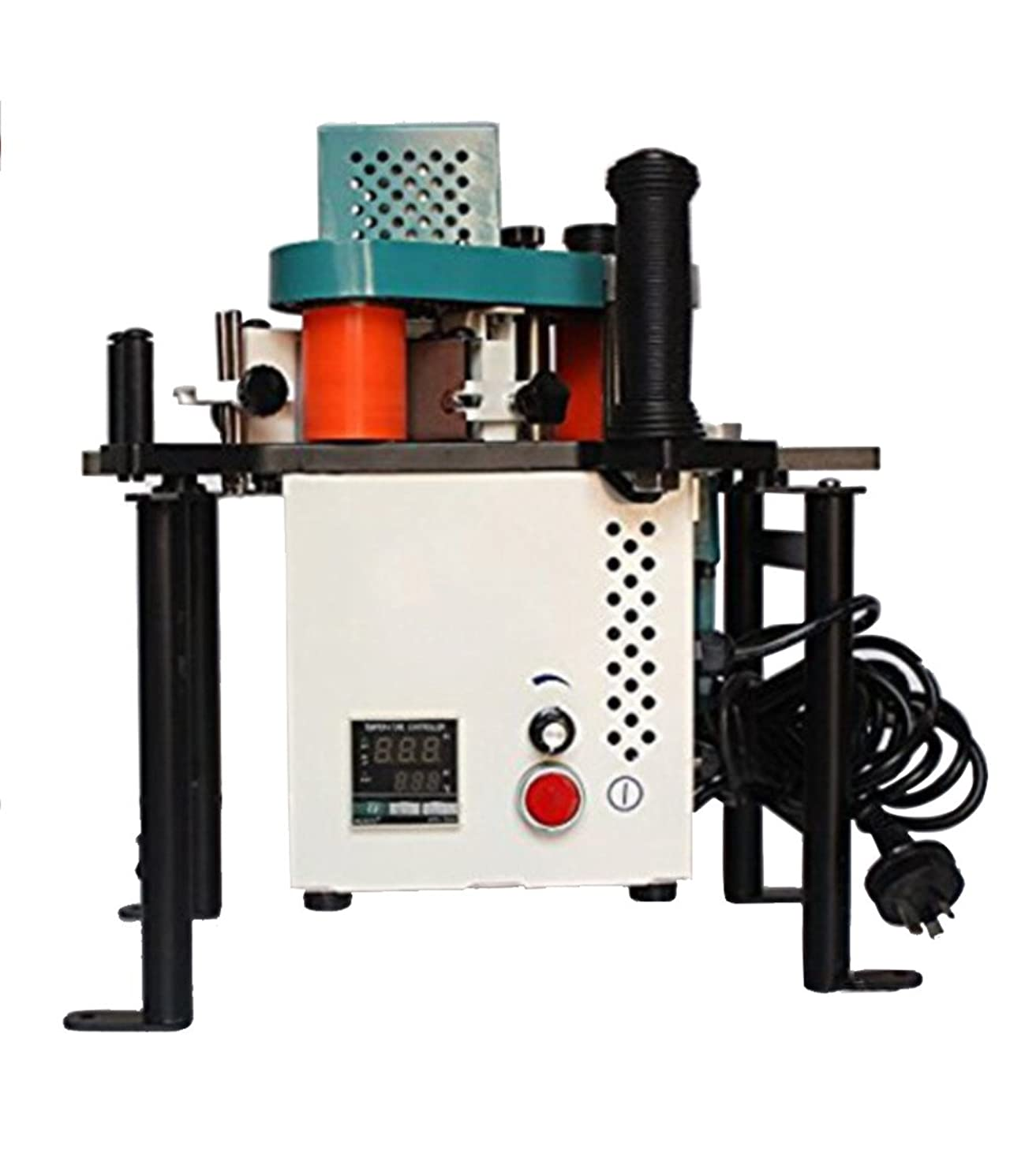 NEWTRY Woodworking Edge Bander Banding Machine 10-45mm Adjustable Temperature and Speed 0.5-5m/min (110V)