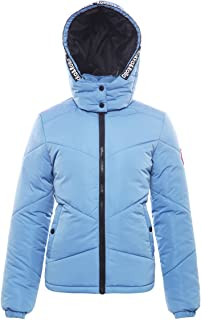 Rokka&Rolla Women's Water-Resistant Hooded Thickened Insulated Quilted Puffer Coat Heavy Padded Winter Parka Anorak Jacket