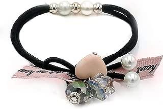 1PC Lovely Clover Gray Ball Elastic Hair Bands Toys For Girls Handmade Bow Headband Scrunchie Kids Hair Accessories For Womens