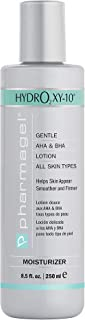 Pharmagel Hydro2 Xy 10 Lifting and Firming Concentrate Moisturizer | AHA and BHA Facial and Body Lotion | Rapid Absorption with Stabilized Oxygen - 8.5 fl. oz.