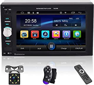 $62 » Mutimedia Double Din Car Stereo Audio Receiver 6.2 Inch Digital 1080P HD Touchscreen with Bluetooth FM Radio for Car Mp5 P...
