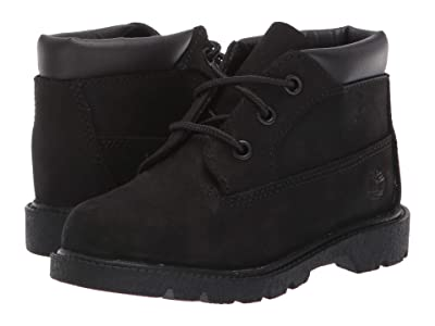 Timberland Kids 3 Eye Chukka (Toddler/Little Kid) (Black Nubuck) Kids Shoes