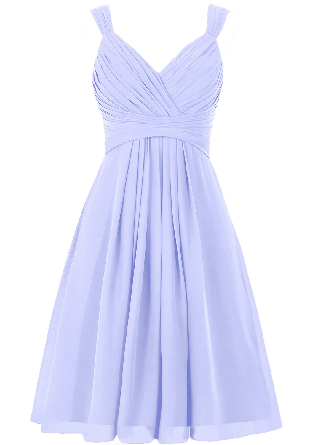 Available at Amazon: Bridesmaid Dress Short Prom Dress Chiffon Simple Party Dress for Junior