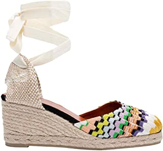 CASTANER Women's Carina Wave Fabric Missoni Collection Wedge Espadrilles