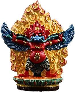 ZGPTX Golden-Winged Bird Protection God Buddha Statue Resin Painting Dapeng Bird Eagle King Guard Buddha Buddha Statue