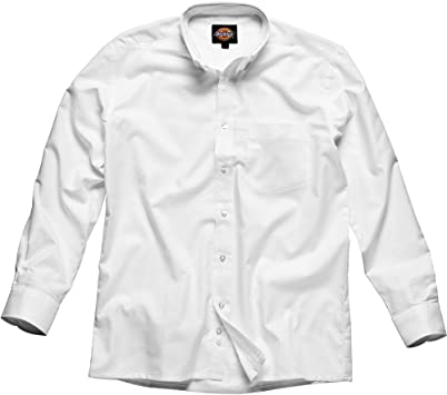 Dickies - Camisa Oxford de hombre, Blanco, SH64200 WH 15+