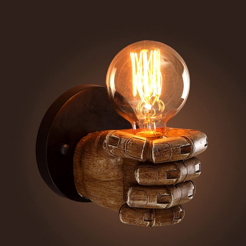 wandlampe Wandbeleuchtung Retro 1-Licht geballte Faust kreative Innenwandleuchte Schlafzimmerleuchten (gre   Linke Hand)