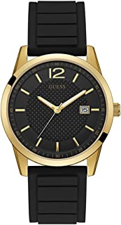 Guess Perry Men's Black Dial Silicone Band Watch - W0991G2, Analog Display