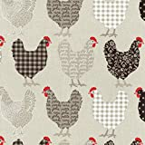 Textiles français Baumwollstoff | Hühner Modenschau Stoff