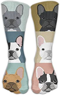 e2e72f8a327 Fashion French Bulldogs Dog Knee Socks Athletic Crew Socks For Girls