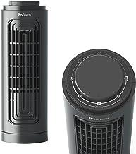 Pro Breeze Ventilateur Colonne de bureau 32,5 cm, 3 vitesses, Oscillation 70°, Minuterie 12h - Petit ventilateur tour Sile...