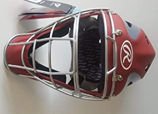 "Rawlings CHVEL Velo Adult Red/Gray Catchers Helmet Fits 7-1/8"" - 7-3/4"""