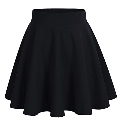 ad3a41b79a Dresstells Falda Mujer Mini Corto Elástica Plisada Básica Multifuncional