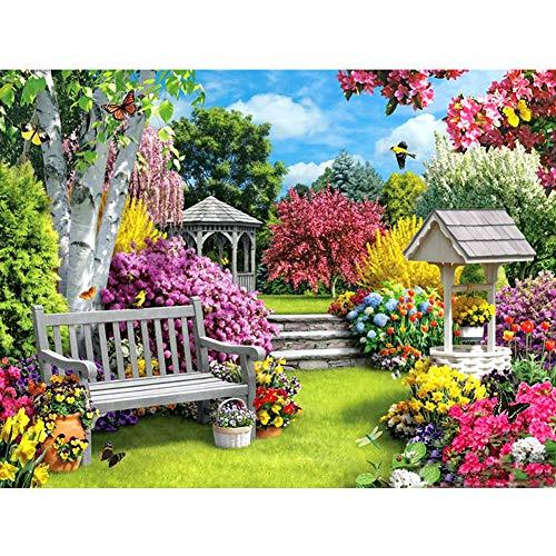 Colorato giardino 5D fai da te pieno tondo trapano strass pittura mosaico kit arte artigianato casa regali