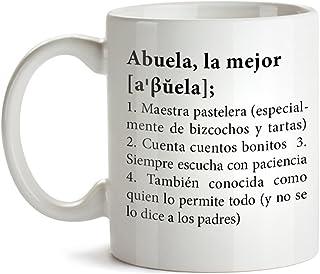 comprar comparacion Taza con Mensaje – Definición Original de la Mejor Abuela – Estándar – Taza de café Divertida e Ideal para Regalar a la Ab...