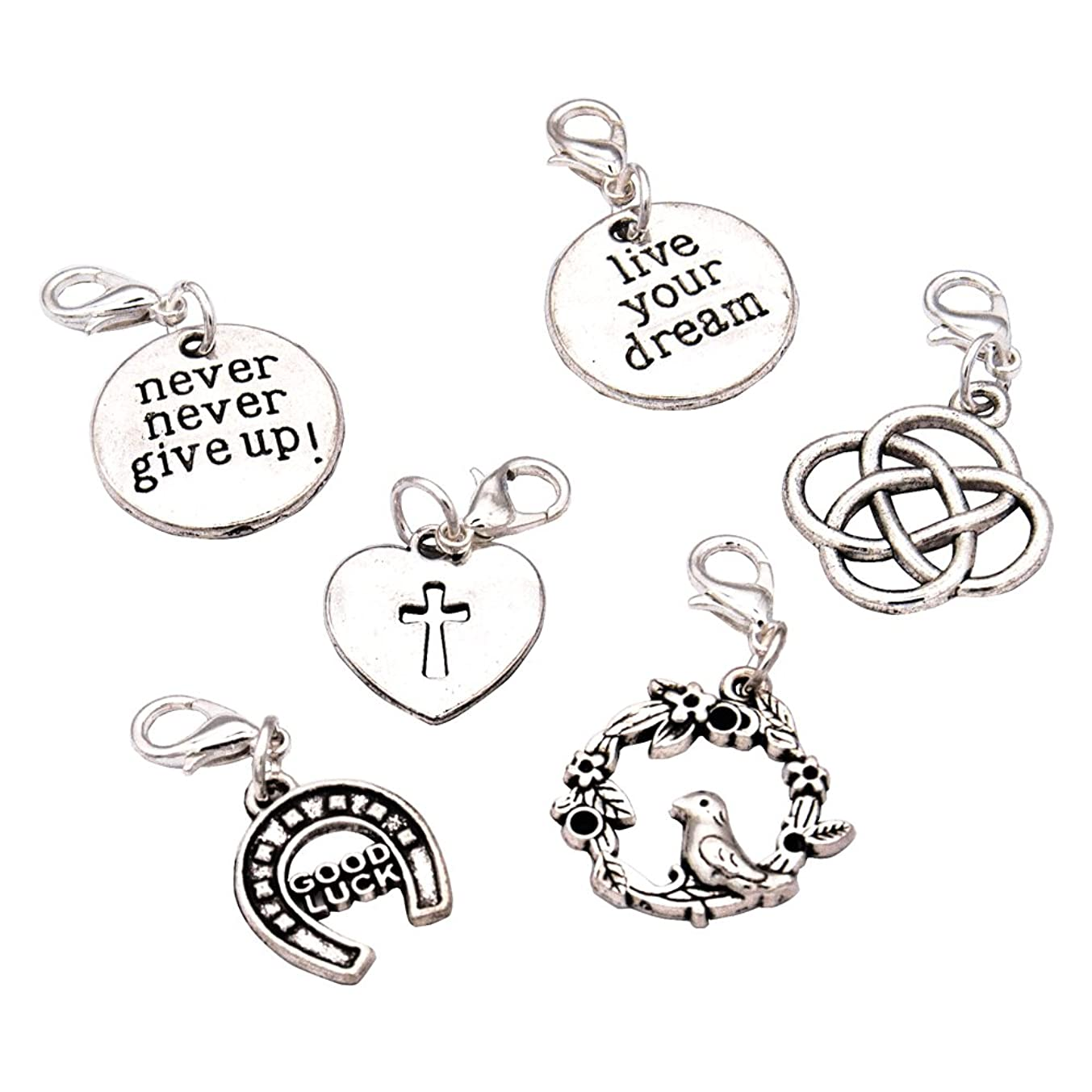 Ascrafter Character Zipper Pull Charms - Set of 6 - Knitting Stitch Markers, Crochet Markers, Purse Charms