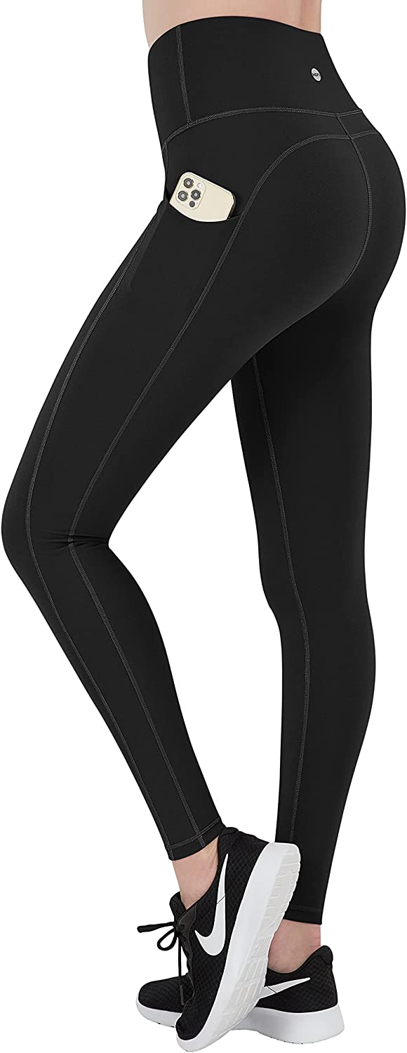 HOFI Yoga Pants for Women with Pockets High Waist Workout Leggings with Tummy Control 4 Way Stretch Running