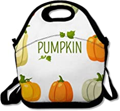 Lunch Bags for Women Men Insulated Country Pumpkin Gourd Squash Harvest Colored Autumn Farm November Crop Gather Garden Stuff Vegetable Lunch Tote School for Child