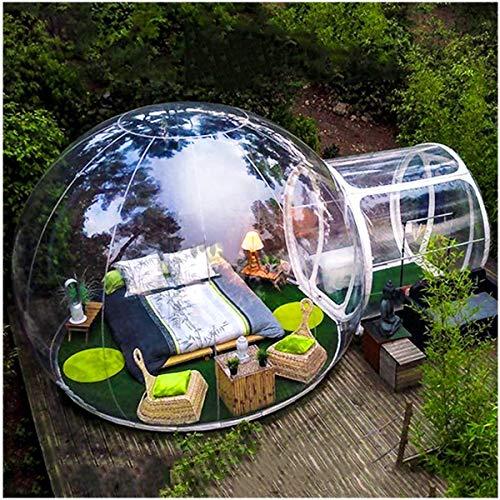 LFDHSF Garden Igloo 360 Dome mit geschlossener Luftdurchlassöffnung Luxuriöses transparentes aufblasbares Luftblasen-Zelt-Familienkampieren