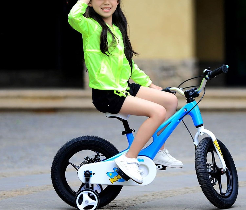 YJWOZ Kinder-Fahrrad, 14-Zoll-Magnesium-Legierung Baby-Wagen Mnner und Frauen Baby 2-3-5 Jahre Alten Fahrrad Kinderfahrrder (Farbe   Blau)