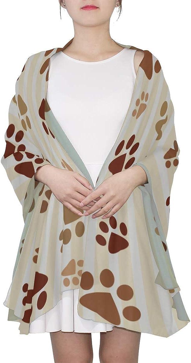 Scarf Large Women Cat Dog Paws Footprints Pattern Shawls Wraps Toddler Scarf Lightweight Print Scarves Lightweight Fashion Scarfs For Women Long Scarfs For Women Lightweight