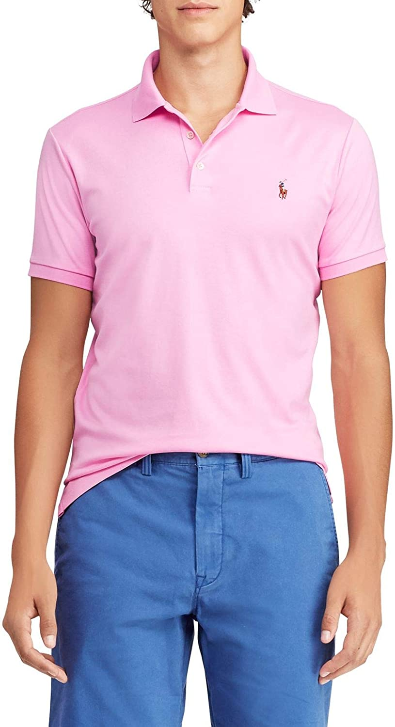 Polo Ralph Lauren Men's Classic Fit Soft Touch Polo, Hampton Pink, Small