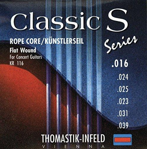 Thomastik single string E6 .039 verzilverd koper, platte wond op zijde kern KR39 voor Classic Guitar Classic S Series Rope Core set KR116