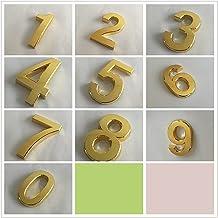 Huisborden Huisnummer Stickers Goud Zilver Kleur 3D Teken Milieuvriendelijk ABS Plating Gate Deur Adres Cijfers 0-9 Woonde...